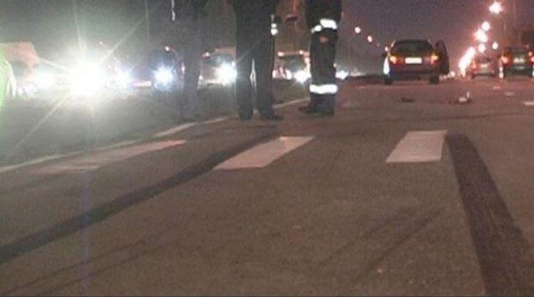 В Баку автомобиль сбил полицейского на карантинном посту