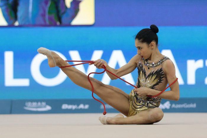 Азербайджанские гимнастки успешно выступают в Киеве